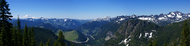 Panorama - Mt Rainier to Snoqualmie Pass