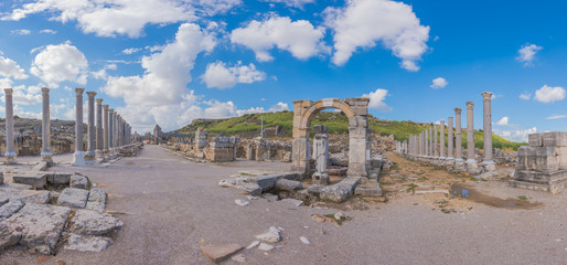 Ancient ruins of Perge. Agora.Turkey.