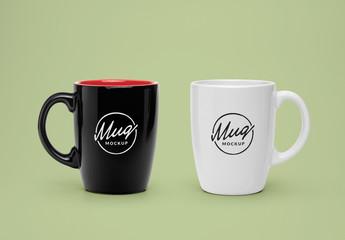 陶器のマグカップモックアップ