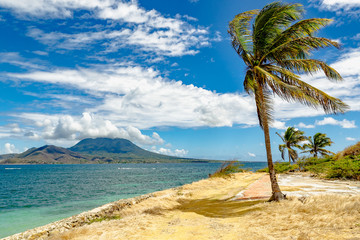 Cockleshell Bay and Nevis Peak, St Kitts