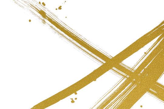金色の線と点 和風背景素材