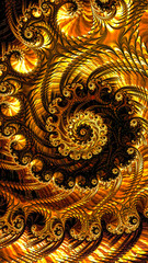 Abstract lacy spiral - digitally generated image