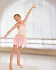Adorable little ballerina