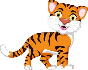 Cute tiger cartoon for you design