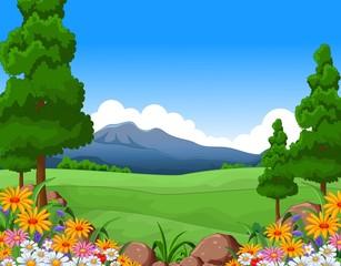 beautiful summer landscape for you design