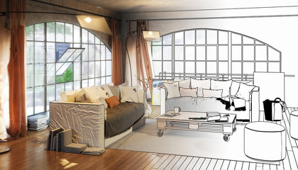 Postindustiral Loft Design (project)