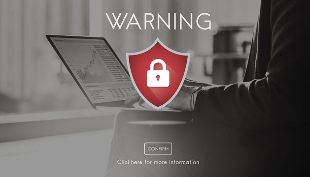 Security Alert Caution Beware Attention Sign Concept