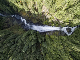 Wallace Falls Above Aerial View
