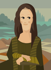 mona lisa da vinci painting cartoon