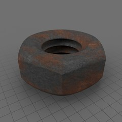 Hex Nut Aged