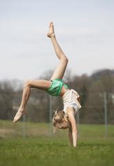 Austria, Teenage girl doing gymnastics