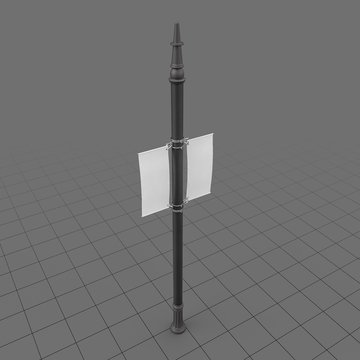 Pole Double Banner