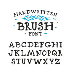 Vector handwritten brush serif font