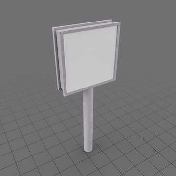 Stand Single Square Sign