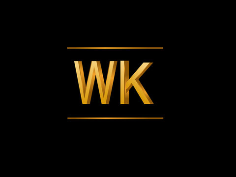 WK Initial Logo for your startup venture