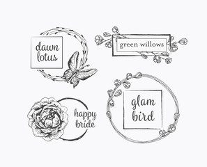 Graphical floral labels