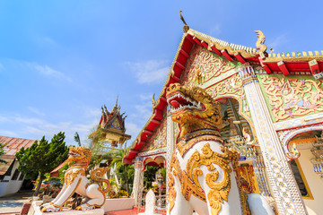 A view of Beautiful temple in NAN , THAILAND