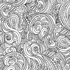 black and white seamlesspattern in a zentangle style