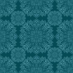 Seamless pattern with mandalas