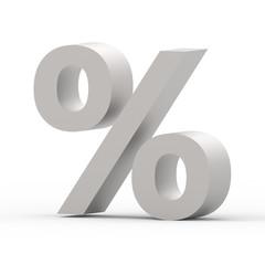 grey percent sign
