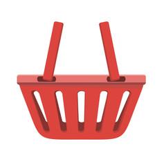 Illustration of Red Shopping Basket