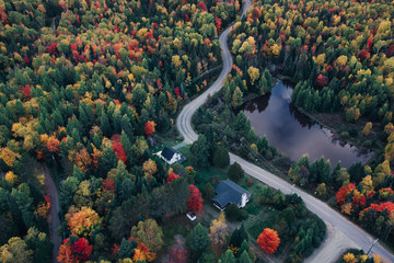 Canadian countryside at Fall from the sky