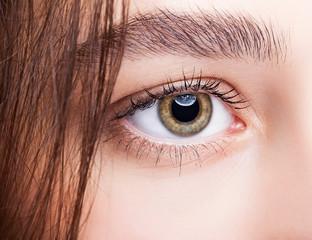 Female hazel eye makeup