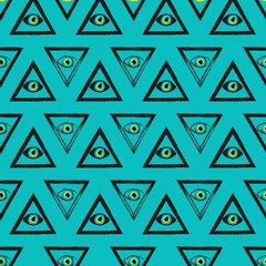 The seamless pattern of Masonic symbols