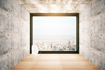 Window with city view