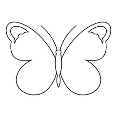Nice butterfly icon. Outline illustration of nice butterfly vector icon for web
