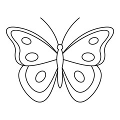 Aphantopus butterfly icon. Outline illustration of aphantopus butterfly vector icon for web