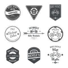 Bike Rent Label and Badges Design. Vector