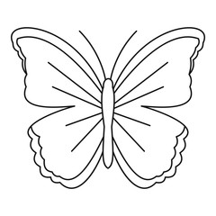 Big butterfly icon. Outline illustration of big butterfly vector icon for web