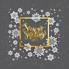 Dark snowflakes Christmas card