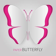 Papierschmetterling pink