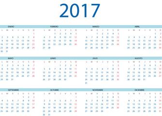 Calendario 2017 en español