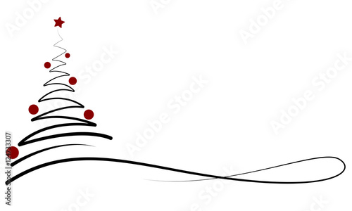Weihnachten Banner Mit Weihnachtsbaum Schwarz Rot Stockfotos