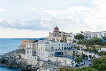 Southern coast of Italy. Santa Cesarea Terme town, Italy.