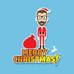 santa claus christmas skinny dad