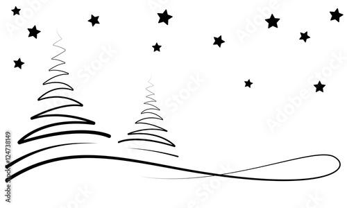 weihnachten winternacht banner wei schwarz. Black Bedroom Furniture Sets. Home Design Ideas