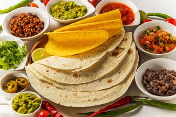 タコスセット メキシコのグルメ Mexican food tacos