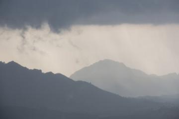 Mountain with rain storm, Mae Sot, Tak, Thailand