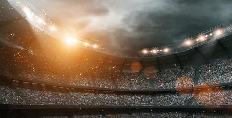 stadium lights,3d rendering