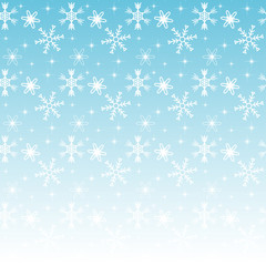 Seamless winter background pattern with snowflakes; Editable bac