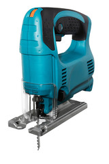 blue electric fretsaw