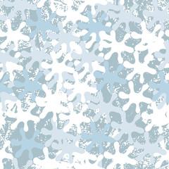 Seamless winter pattern with frozen curls.