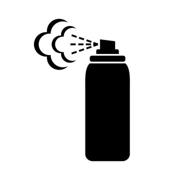 Black spray can icon on white background