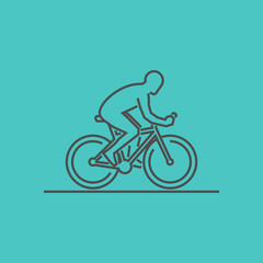 Modern outline cycling logo.