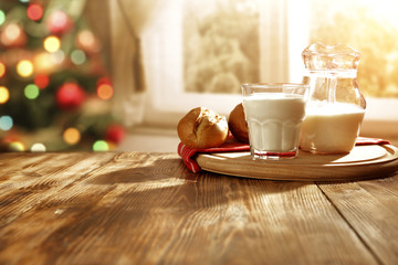 xmas time and milk on table