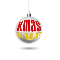 Christmas sale banner. Christmas decorations ball.